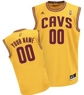 Kids Cleveland Cavaliers Customized Yellow Jersey