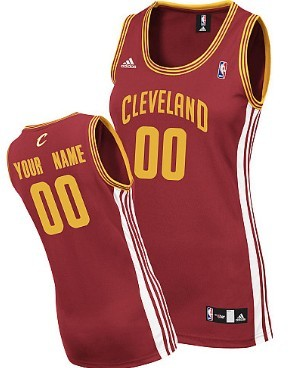 Womens Cleveland Cavaliers Customized Red Jersey
