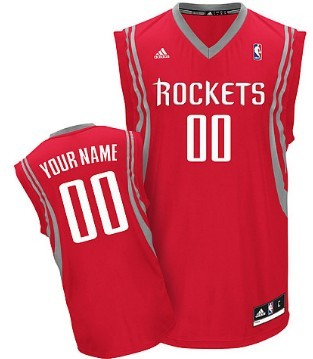 Mens Houston Rockets Customized Red Jersey