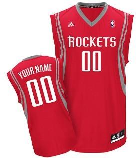 Kids Houston Rockets Customized Red Jersey