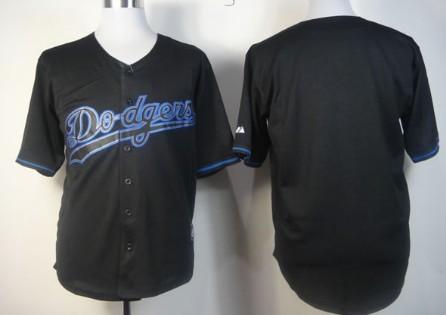 Men's Los Angeles Dodgers Customized 2012 Black Fashion Jersey