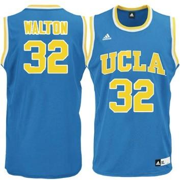 UCLA Bruins #32 Bill Walton Light Blue Jersey