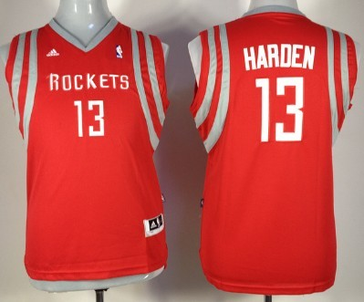 Houston Rockets #13 James Harden Red Kids Jersey