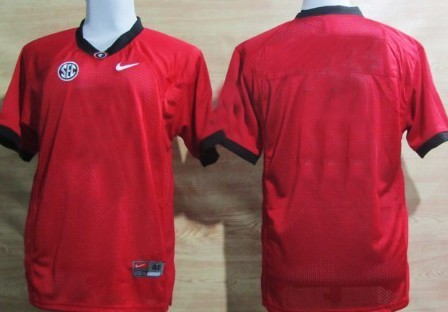 Men's Georgia Bulldogs Customized Red Jersey