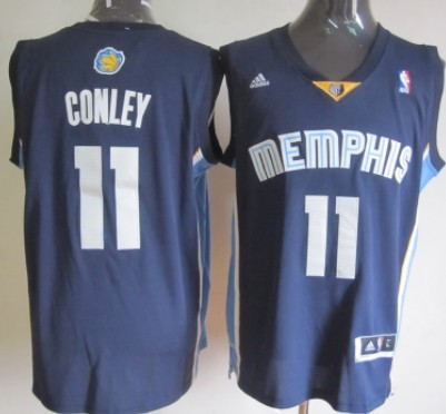 Memphis Grizzlies #11 Mike Conley Revolution 30 Swingman Navy Blue Jersey