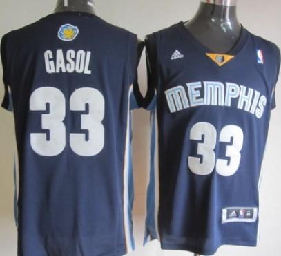 Memphis Grizzlies #33 Marc Gasol Revolution 30 Swingman Navy Blue Jersey
