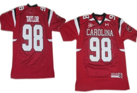 South Carolina Gamecocks #98 Devin Taylor Red Jersey