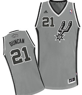 San Antonio Spurs #21 Tim Duncan Gray Swingman Jersey