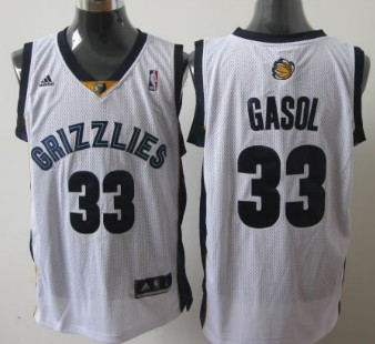 Memphis Grizzlies #33 Marc Gasol White Swingman Jersey