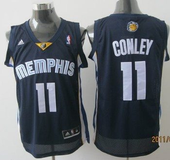Memphis Grizzlies #11 Mike Conley Navy Blue Swingman Jersey