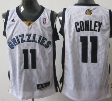 Memphis Grizzlies #11 Mike Conley White Swingman Jersey