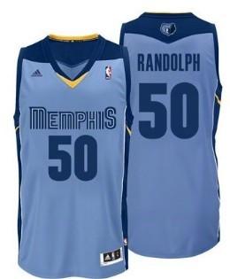 Memphis Grizzlies #50 Zach Randolph Light Blue Swingman Jersey