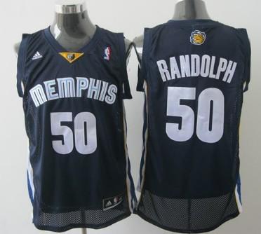 Memphis Grizzlies #50 Zach Randolph Navy Blue Swingman Jersey