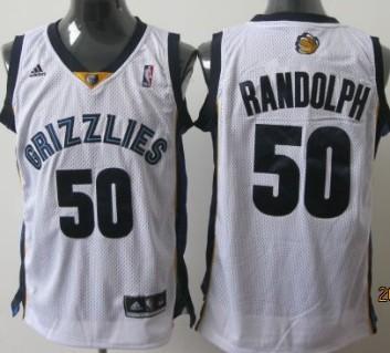 Memphis Grizzlies #50 Zach Randolph White Swingman Jersey