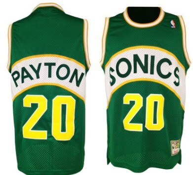 Seattle Supersonics #20 Gary Payton 1994-95 Green Swingman Throwback Jersey