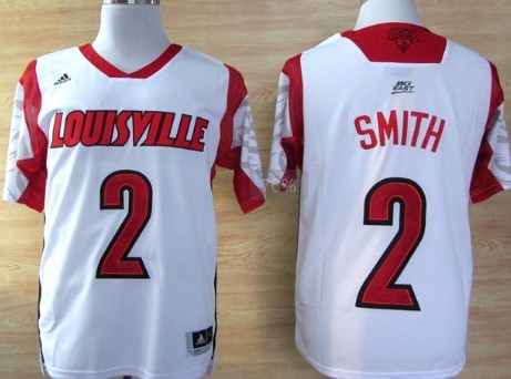 Louisville Cardinals #2 Russ Smith 2013 March Madness White Jersey