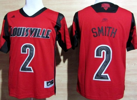 Louisville Cardinals #2 Russ Smith 2013 March Madness Red Jersey
