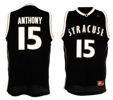 Syracuse Orange #15 Carmelo Anthony Black Jersey