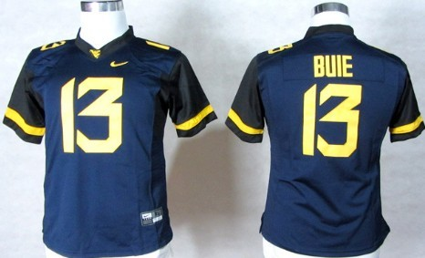 West Virginia Mountaineers #13 Andrew Buie 2013 Navy Blue Womens Jersey