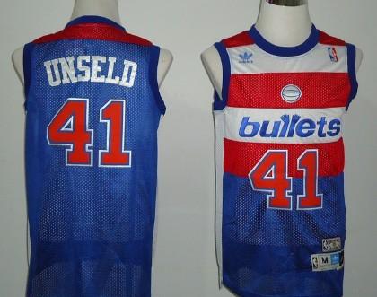 Washington Bullets #41 Wes Unseld Blue Swingman Throwback Jersey