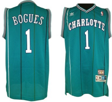 Charlotte Hornets #1 Muggsy Bogues Green Swingman Throwback Jersey