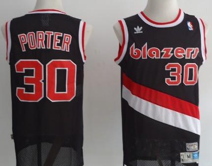 Portland Trail Blazers #30 Terry Porter Black Swingman Throwback Jersey