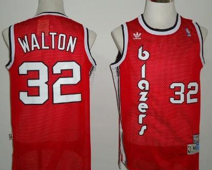 Portland Trail Blazers #32 Bill Walton Red Swingman Throwback Jersey