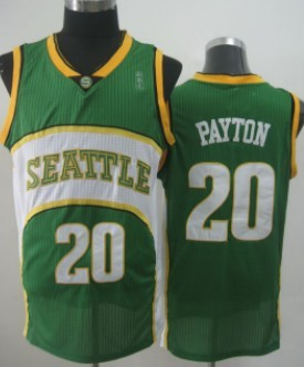 Seattle Supersonics #20 Gary Payton 2007-08 Green Swingman Jersey