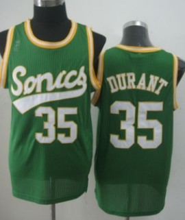 Seattle Supersonics #35 Kevin Durant 2003-04 Green Swingman Jersey