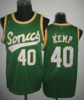 Seattle Supersonics #40 Shawn Kemp 2003-04 Green Swingman Jersey