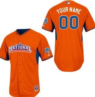 Men's National League Customized 2013 All-Star Orange Jersey