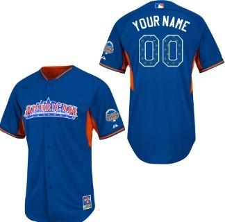 Men's American League Customized 2013 All-Star Blue Jersey