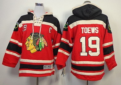Old Time Hockey Chicago Blackhawks #19 Jonathan Toews Red Kids Hoodie
