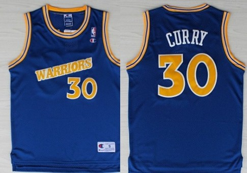 Golden State Warriors #30 Stephen Curry 1988-89 Blue Swingman Throwback Jersey