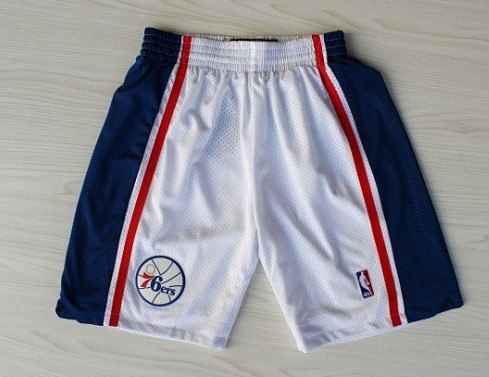 Philadelphia 76ers White Throwback Short