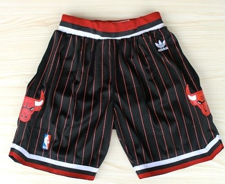 Chicago Bulls Black With Red Pinstripe Short
