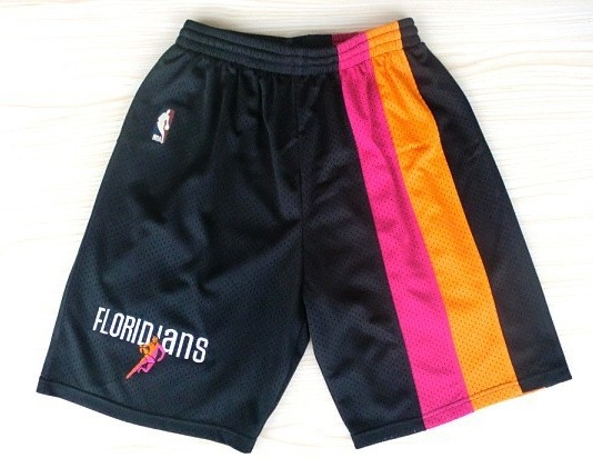 Miami Heat Black Floridians Rainbow Short