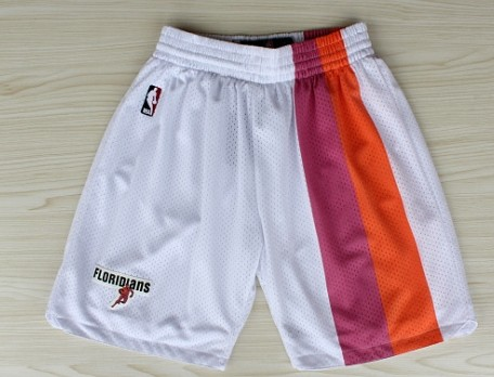 Miami Heat White Floridians Rainbow Short