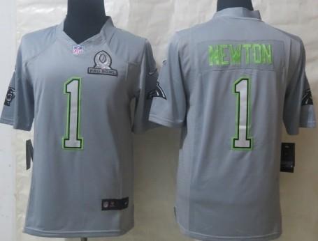 Nike Carolina Panthers #1 Cam Newton 2014 Pro Bowl Gray Jersey