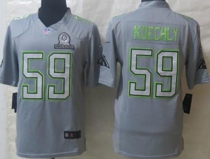 Nike Carolina Panthers #59 Luke Kuechly 2014 Pro Bowl Gray Jersey