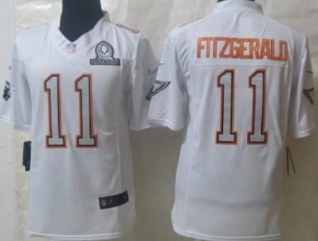 Nike Arizona Cardinals #11 Larry Fitzgerald 2014 Pro Bowl White Jersey