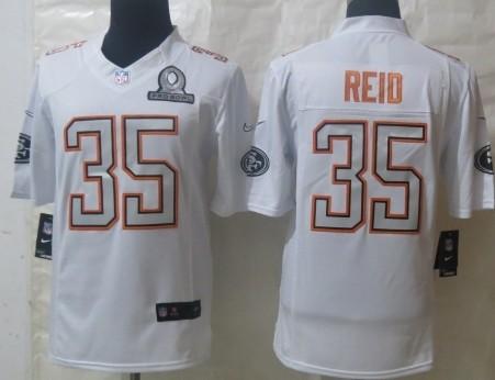 Nike San Francisco 49ers #35 Eric Reid 2014 Pro Bowl White Jersey