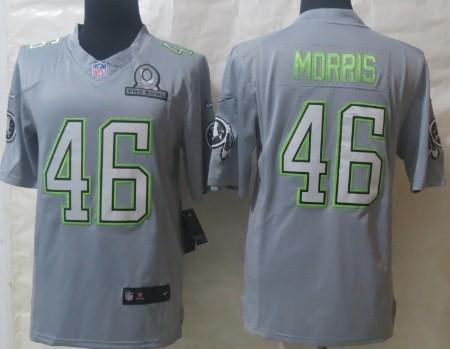 Nike Washington Redskins #46 Alfred Morris 2014 Pro Bowl Gray Jersey