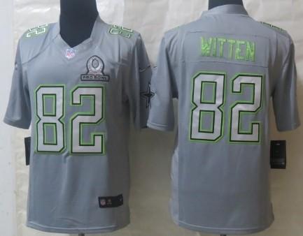 Nike Dallas Cowboys #82 Jason Witten 2014 Pro Bowl Gray Jersey