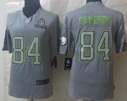 Nike Cleveland Browns #84 Jordan Cameron 2014 Pro Bowl Gray Jersey