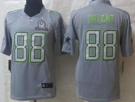 Nike Dallas Cowboys #88 Dez Bryant 2014 Pro Bowl Gray Jersey