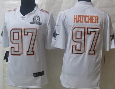 Nike Dallas Cowboys #97 Jason Hatcher 2014 Pro Bowl White Jersey