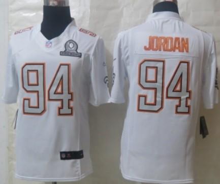 Nike New Orleans Saints #94 Cameron Jordan 2014 Pro Bowl White Jersey