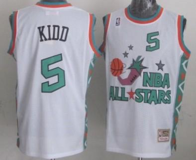 NBA 1996 All-Star #5 Jason Kidd White Swingman Throwback Jersey