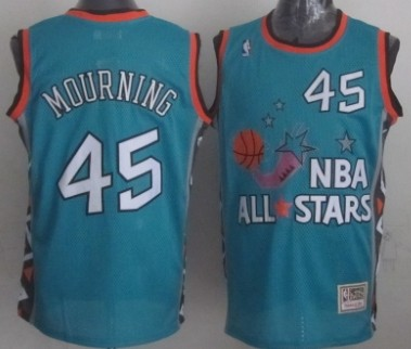 NBA 1996 All-Star #45 Alonzo Mourning Green Swingman Throwback Jersey